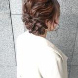 外国人風カラー ミディアム パーティ ナチュラル ヘアスタイルや髪型の写真・画像