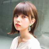 ナチュラル ロブ 外ハネ ミディアム ヘアスタイルや髪型の写真・画像 | 中川 崇広 / drive for garden