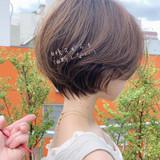 パーマ エレガント ゆるふわ 大人かわいい ヘアスタイルや髪型の写真・画像 | ショートボブの匠【 山内大成 】『i.hair』 / 『 i. 』 omotesando