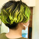 ストリート ユニコーンカラー グラデーションカラー ハンサムショート ヘアスタイルや髪型の写真・画像[エリア]