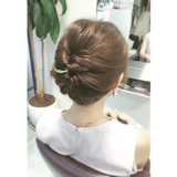 アップスタイル ロング ヘアアレンジ フェミニン ヘアスタイルや髪型の写真・画像