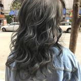 ストリート ハイライト 外国人風 セミロング ヘアスタイルや髪型の写真・画像