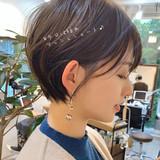 ショートヘア ショートボブ ナチュラル アンニュイほつれヘア ヘアスタイルや髪型の写真・画像 | ショートボブの匠【 山内大成 】『i.hair』 / 『 i. 』 omotesando
