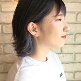 インナーカラー 外ハネボブ モード 切りっぱなしボブ ヘアスタイルや髪型の写真・画像