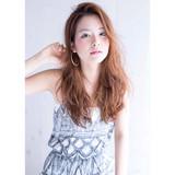ガーリー 外国人風 グラデーションカラー ウェーブ ヘアスタイルや髪型の写真・画像