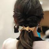 セミロング 簡単ヘアアレンジ フェミニン セルフヘアアレンジ ヘアスタイルや髪型の写真・画像   Kyoko / hair salon