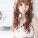 ベージュ ガーリー ピンク おフェロ ヘアスタイルや髪型の写真・画像
