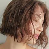 パーマ  ベージュカラー ボブ ヘアスタイルや髪型の写真・画像
