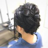 結婚式 フェミニン ヘアアレンジ ショート ヘアスタイルや髪型の写真・画像 | fots.愛美 / fots.南堀江