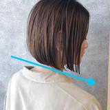ボブ 縮毛矯正 小顔 ナチュラル ヘアスタイルや髪型の写真・画像 | 本田 重人 / GRAFF hair