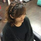 ヘアアレンジ 編み込み ナチュラル ハーフアップヘアスタイルや髪型の写真・画像