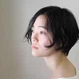 ナチュラル ボブ ヘアスタイルや髪型の写真・画像[エリア]