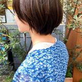 ミニボブ ショートボブ ナチュラル ショートヘア ヘアスタイルや髪型の写真・画像[エリア]