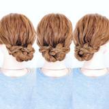 フェミニン ロング 三つ編み アップスタイル ヘアスタイルや髪型の写真・画像   美容師HIRO/Amoute代表 / Amoute/アムティ