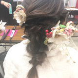 ヘアアレンジ 結婚式 フェミニン ロング ヘアスタイルや髪型の写真・画像