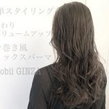 ロング ゆるふわパーマ コテ巻き風パーマ ヘアスタイル ヘアスタイルや髪型の写真・画像
