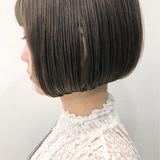 ミルクティー ボブ 外国人風カラー ナチュラル ヘアスタイルや髪型の写真・画像