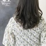 ナチュラル 黒髪 ミディアム イルミナカラー ヘアスタイルや髪型の写真・画像