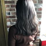 イルミナカラー 切りっぱなしボブ ナチュラル 透明感 ヘアスタイルや髪型の写真・画像