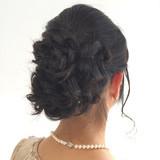 冬 艶髪 ヘアアレンジ 結婚式 ヘアスタイルや髪型の写真・画像