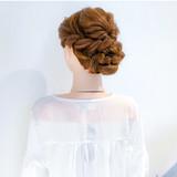 ロング ヘアアレンジ 結婚式 フェミニン ヘアスタイルや髪型の写真・画像 | 美容師HIRO/Amoute代表 / Amoute/アムティ