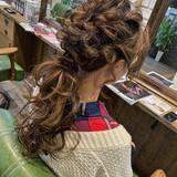 フェミニン ロング ヘアセット 結婚式ヘアスタイルや髪型の写真・画像