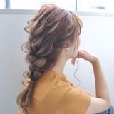 簡単ヘアアレンジ 編みおろし ヘアアレンジ デート ヘアスタイルや髪型の写真・画像 | takashi cawamura / HAIR & MAKE•UP TAXI