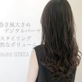 ゆるふわパーマ デジタルパーマ コテ巻き風パーマ ヘアスタイル ヘアスタイルや髪型の写真・画像