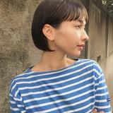 透明感 ミニボブ ボブ ショートボブ ヘアスタイルや髪型の写真・画像[エリア]