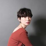 フェミニン パーマ 黒髪 ショート ヘアスタイルや髪型の写真・画像