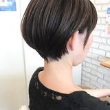 透明感カラー ナチュラル ショートボブ ミニボブ ヘアスタイルや髪型の写真・画像