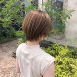 ショートボブ ハンサムショート マッシュショート ショートヘア ヘアスタイルや髪型の写真・画像