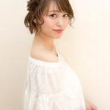 ウェットヘア ヘアアレンジ 簡単ヘアアレンジ ナチュラル ヘアスタイルや髪型の写真・画像[エリア]
