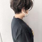 ショートヘア ショート 無造作パーマ ハイライト ヘアスタイルや髪型の写真・画像