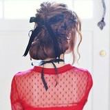 スウィート モテ髪 ゆるふわ ヘアアレンジ ヘアスタイルや髪型の写真・画像[エリア]