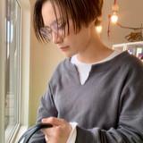 ショートヘア ミルクティー ショートボブ ハンサムショート ヘアスタイルや髪型の写真・画像[エリア]