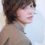 ショート ガーリー アッシュ ヘアスタイルや髪型の写真・画像