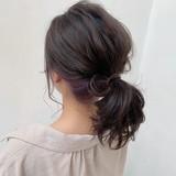 ヘアアレンジ ポニーテールアレンジ 透け感 ナチュラル ヘアスタイルや髪型の写真・画像   Kaoru_ishiga / RadiaL HAIR DESIGN