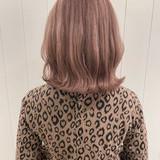 ナチュラル ミディアム ナチュラルベージュ ピンクベージュ ヘアスタイルや髪型の写真・画像