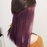 ロング ナチュラル ハイトーン インナーカラーヘアスタイルや髪型の写真・画像