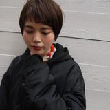 ショート ショートバング ナチュラル デート ヘアスタイルや髪型の写真・画像