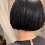 ナチュラル ミニボブ 艶髪 黒髪ショート ヘアスタイルや髪型の写真・画像
