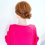 簡単ヘアアレンジ 結婚式 デート フェミニンヘアスタイルや髪型の写真・画像