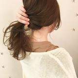 伸ばしかけ ゆるふわ ゆるナチュラル セミロング ヘアスタイルや髪型の写真・画像 | 市川千夏*札幌 / salon AKIRA