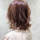 切りっぱなしボブ ショートボブ インナーカラー ミニボブ ヘアスタイルや髪型の写真・画像 | 金田 尚之 / k-two  青山