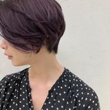 コーラルピンク 透明感カラー ストリート ピンクバイオレット ヘアスタイルや髪型の写真・画像[エリア]
