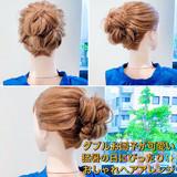 セルフヘアアレンジ ロング フェミニン ヘアアレンジ ヘアスタイルや髪型の写真・画像[エリア]
