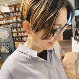 ハンサムショート ブリーチ ショート 外国人風カラー ヘアスタイルや髪型の写真・画像 | ミヤタリョウ/ボブ/ショート/ナチュラル / hair S.COEUR×Cu 枚方T-SITE店