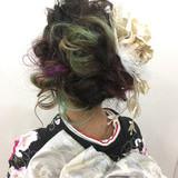謝恩会 成人式 ヘアアレンジ ガーリー ヘアスタイルや髪型の写真・画像