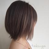 暗髪 ボブ グラデーションカラー 外国人風 ヘアスタイルや髪型の写真・画像